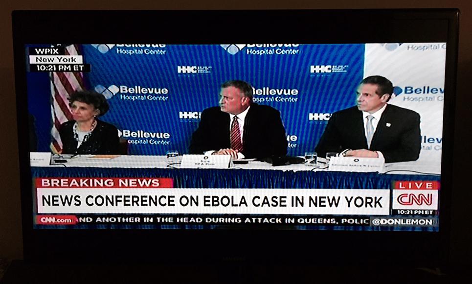 Presskonferensen om New Yorks första ebolafall.