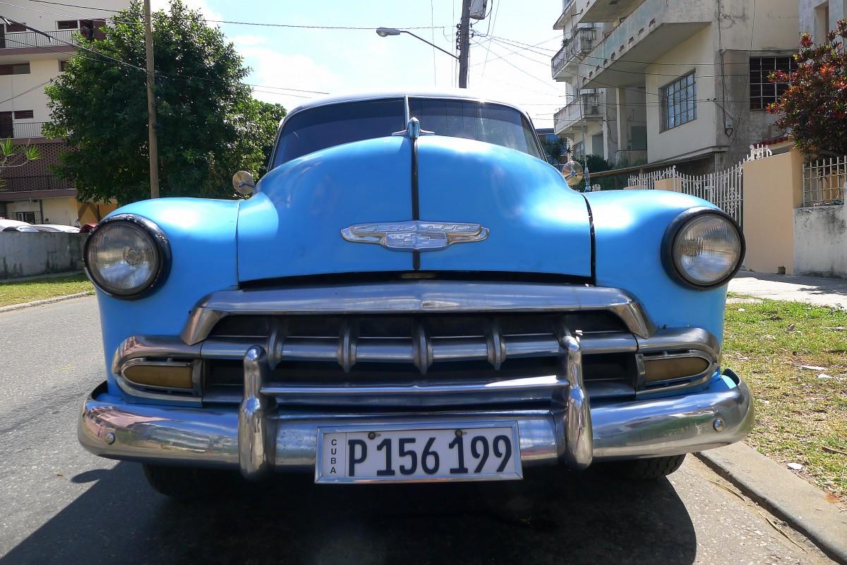 En åldrig taxi i Havanna. Foto: Erik Bergin