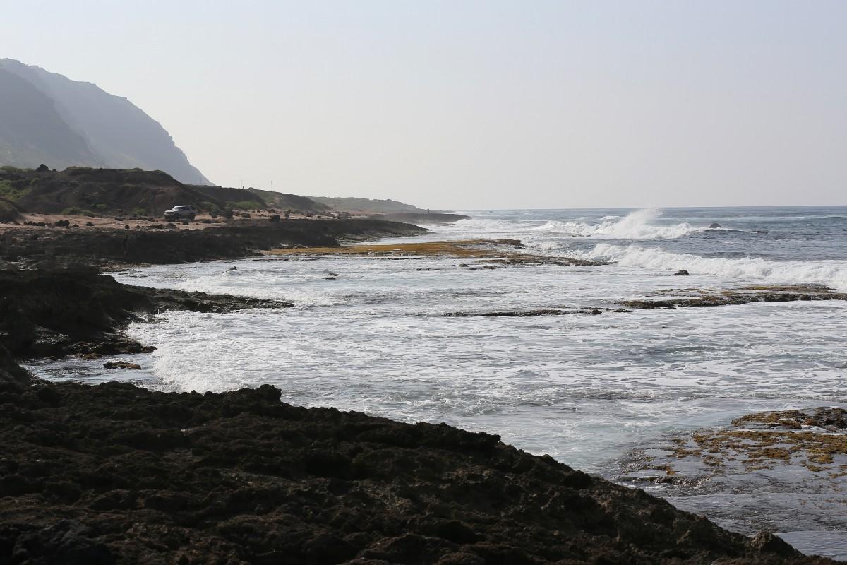 Nära Oahus västra spets.