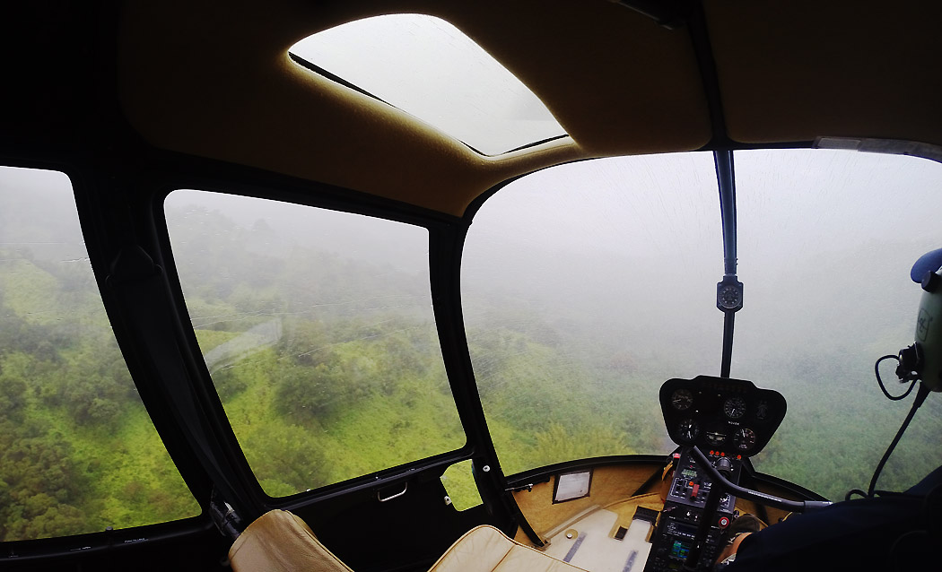 En GoPro-bild inifrån helikoptern (film kommer senare).