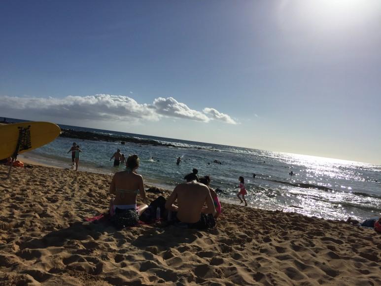 Beachen där man lätt kan slå ihjäl en eftermiddag.