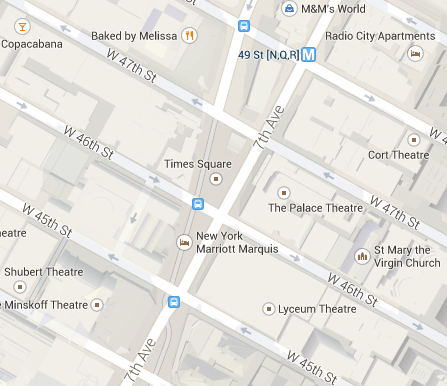 Times Square. Källa: Google Maps