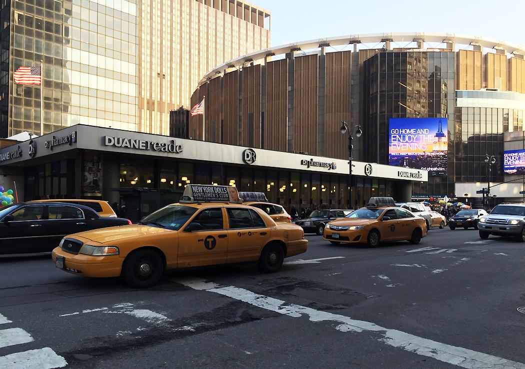 New York Rangers hemmaarena, Madison Square Garden. Här var jag på mycket hockey hösten 2013.
