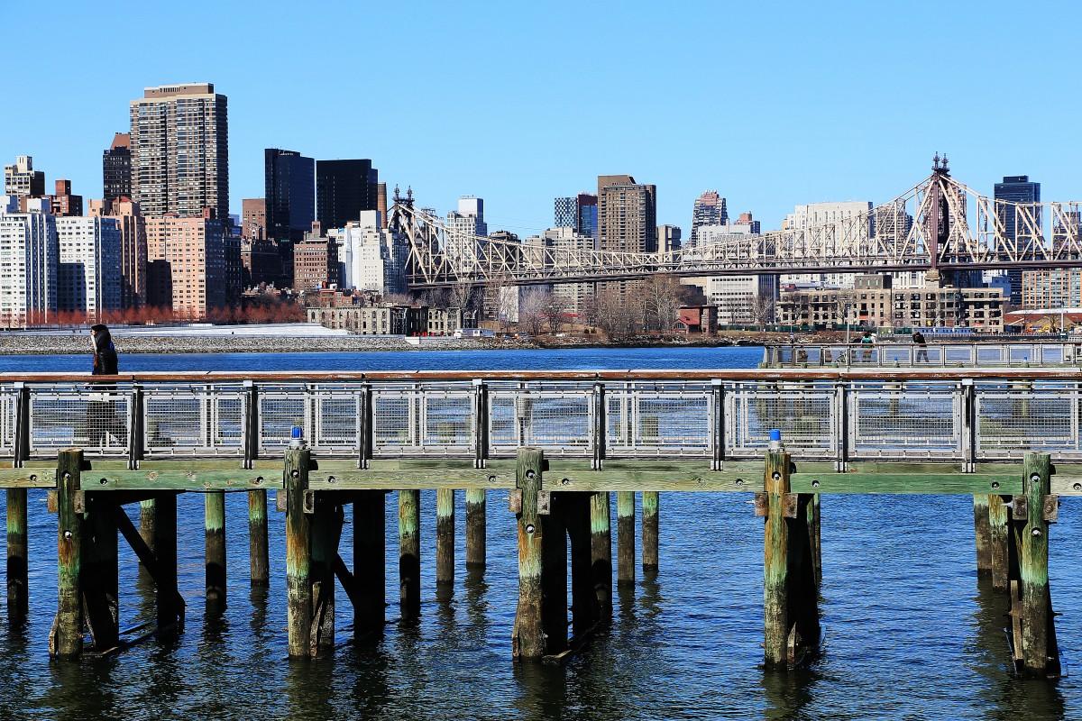 Vy från Hunter's Point Park mot Manhattan. Foto: Erik Bergin