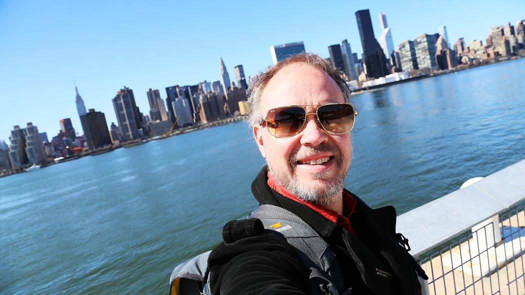 En resande reporter. Foto: himself