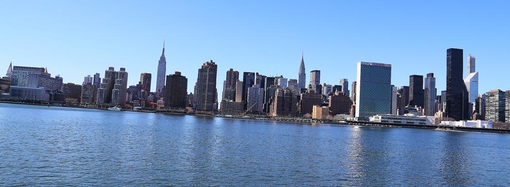 Manhattans skyline från Hunter's Point. Foto: Erik Bergin