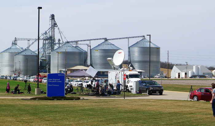 Kirkwood- Community College ligger mitt ute på Iowas landsbygd.