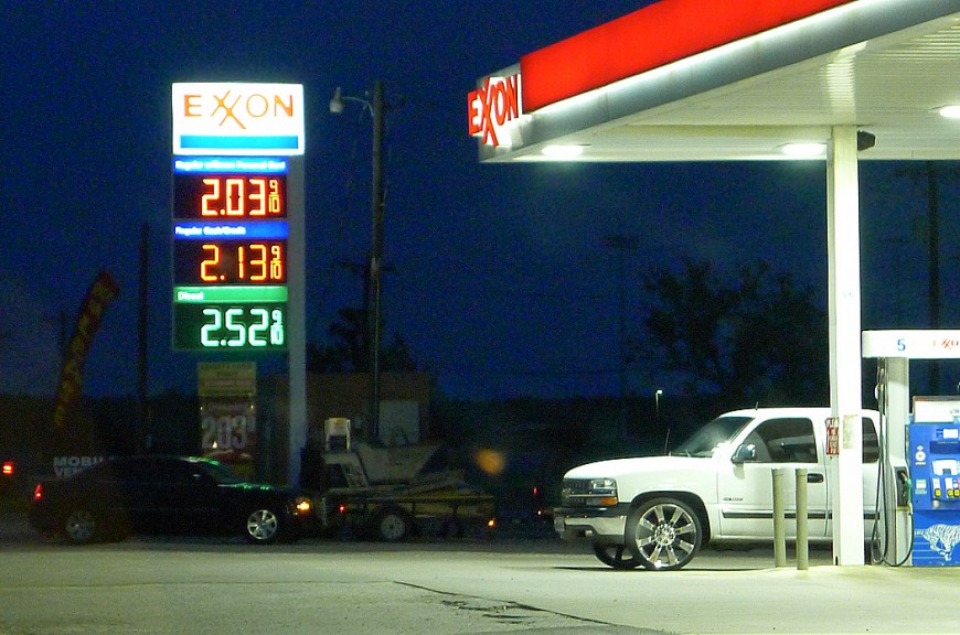 Soppan är billig i texas: $2 per gallon (ca 3,8 liter).