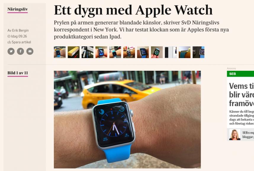 Ett dygn med Apple Watch-textet på Nliv.se.