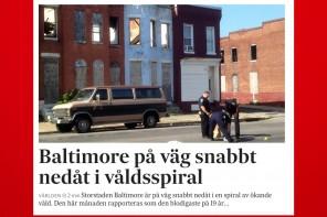 Krimrapport från Baltimore