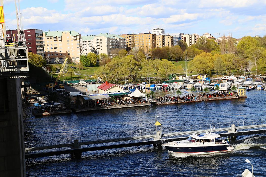 Liljeholmsbron och Loopen Marina.