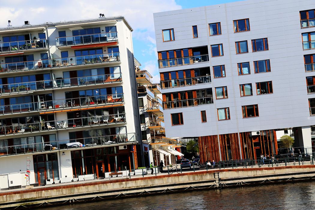Nybyggt i Hammarby Sjöstad.