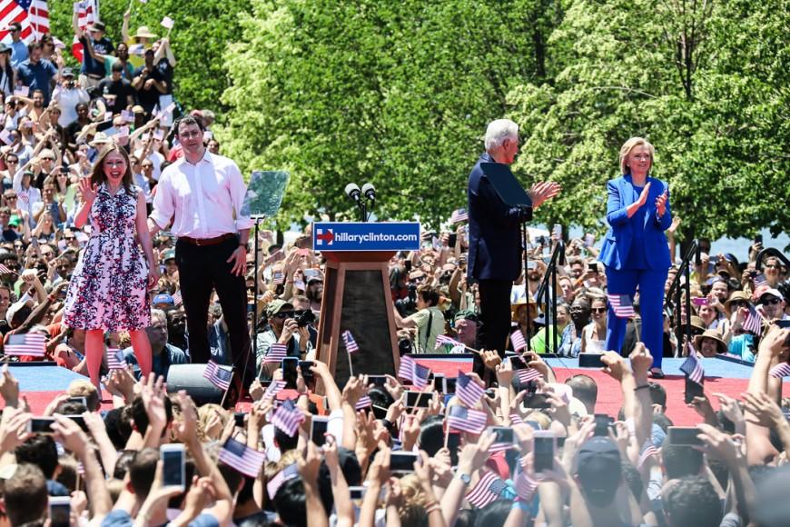 Familjen Clinton.