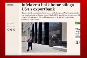 Politiskt bråk hotar USA:s exportbank