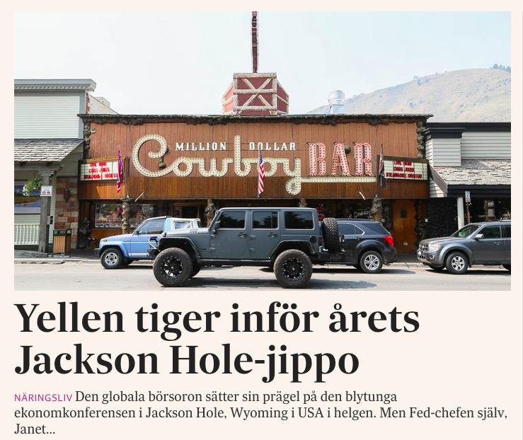 Min story från Jackson Hole på svd.se.
