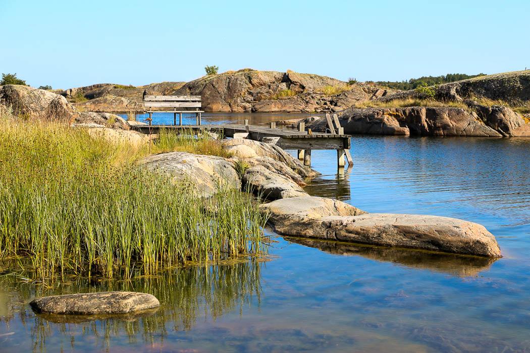 Grunda vikar runt Björkskär.