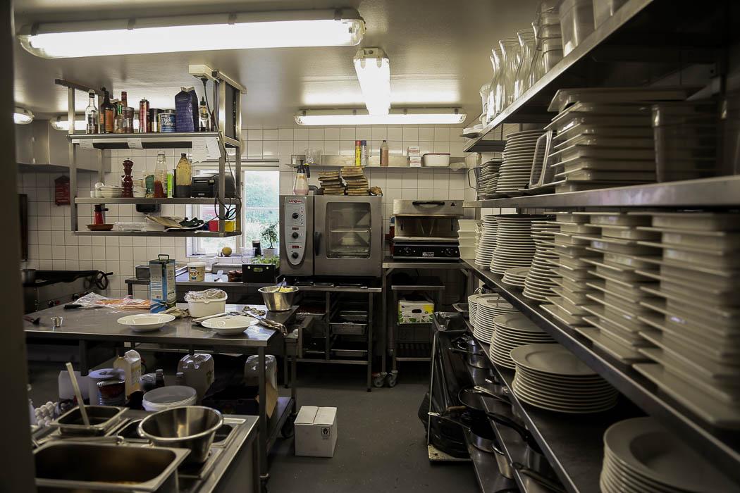 Köket i restaurangen.