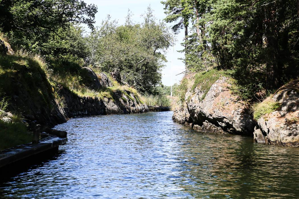 Dragets kanal, på väg söderut.
