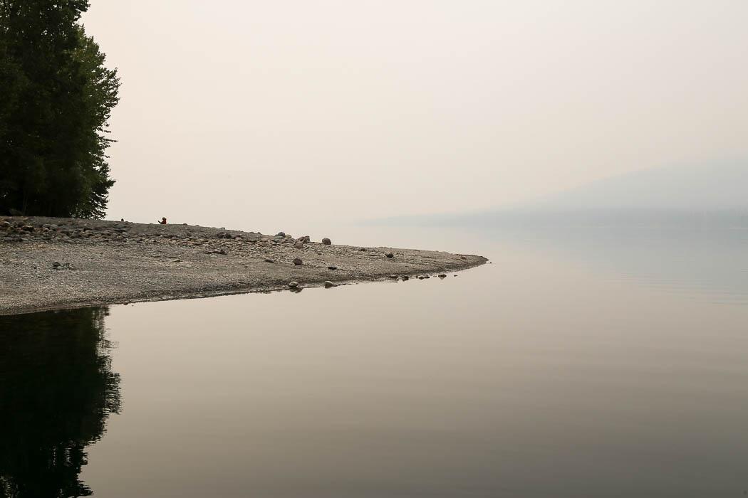 Lake McDonald i nationalparken Glacier.