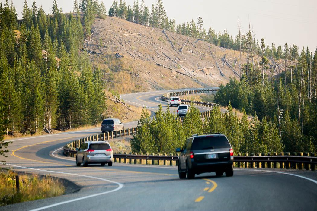 Landsväg i Yellowstone.