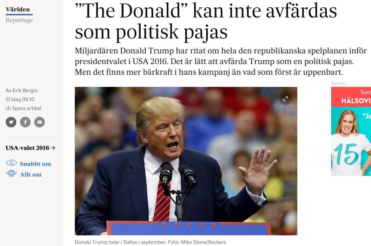 Trump-porträttet på svd.se.