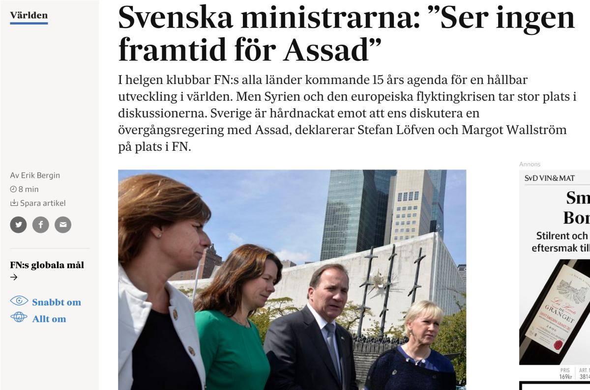 Löfven och Wallström pratar ut på svd.se.