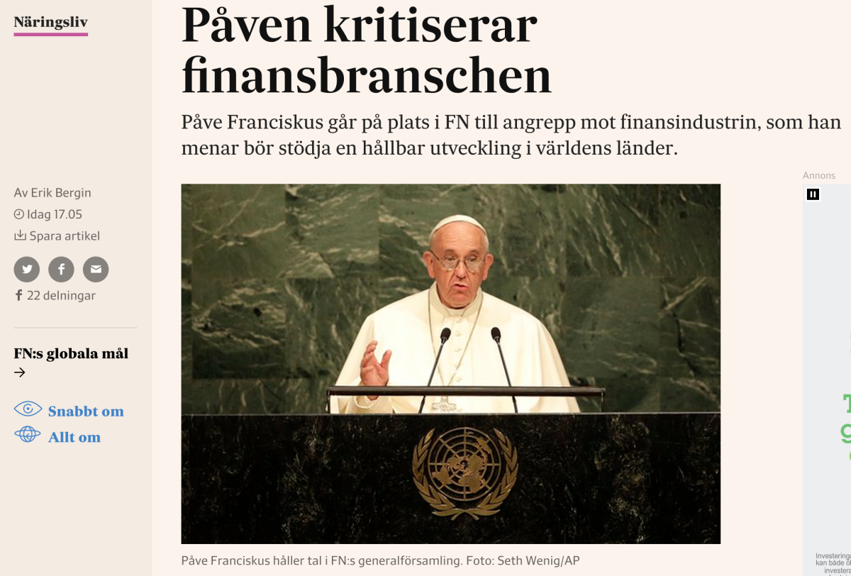 Påven-artikeln på svd.se