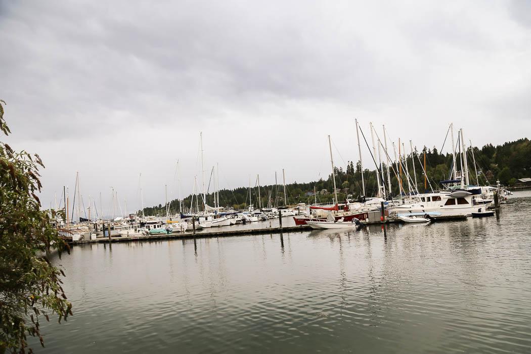 Småbåtshamnen i Eagle Harbor, Bainbridge.