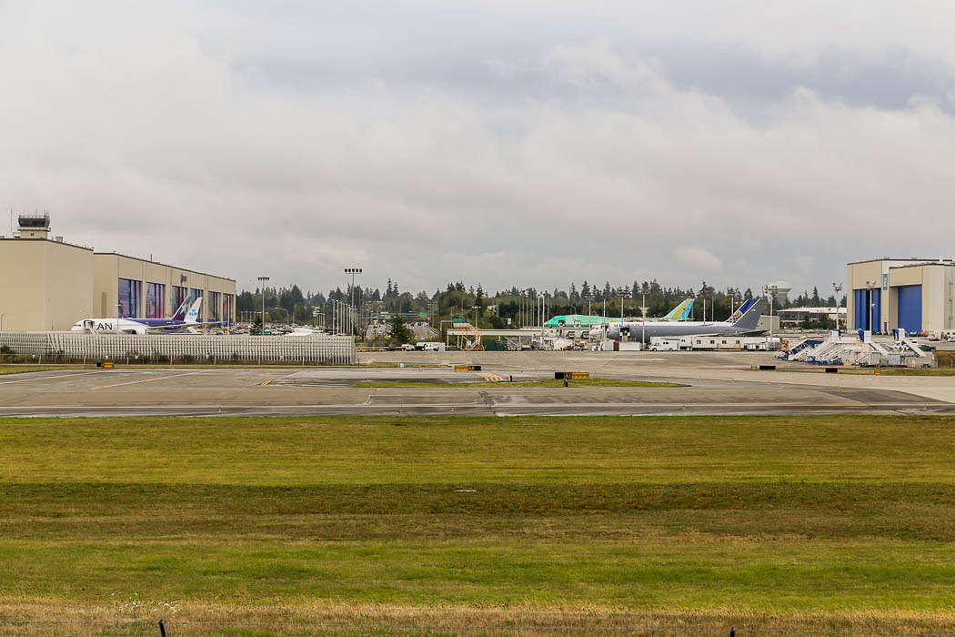 Boeings flygplansfabrik i Everett, norra Washington.