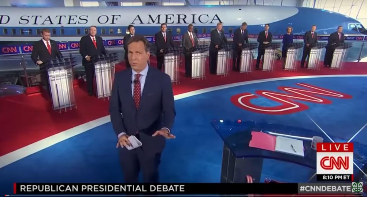 Den andra republikanska presidentvalsdebatten inför valet 2016 i onsdags. Foto: CNN