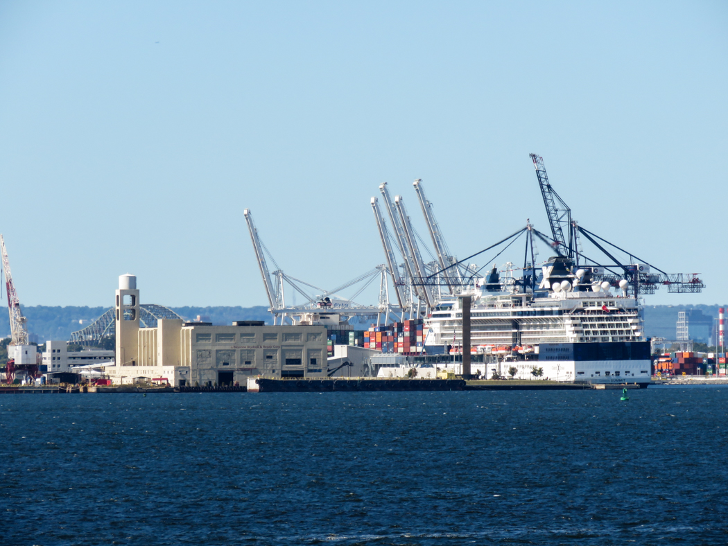Hamnen i New Jersey.