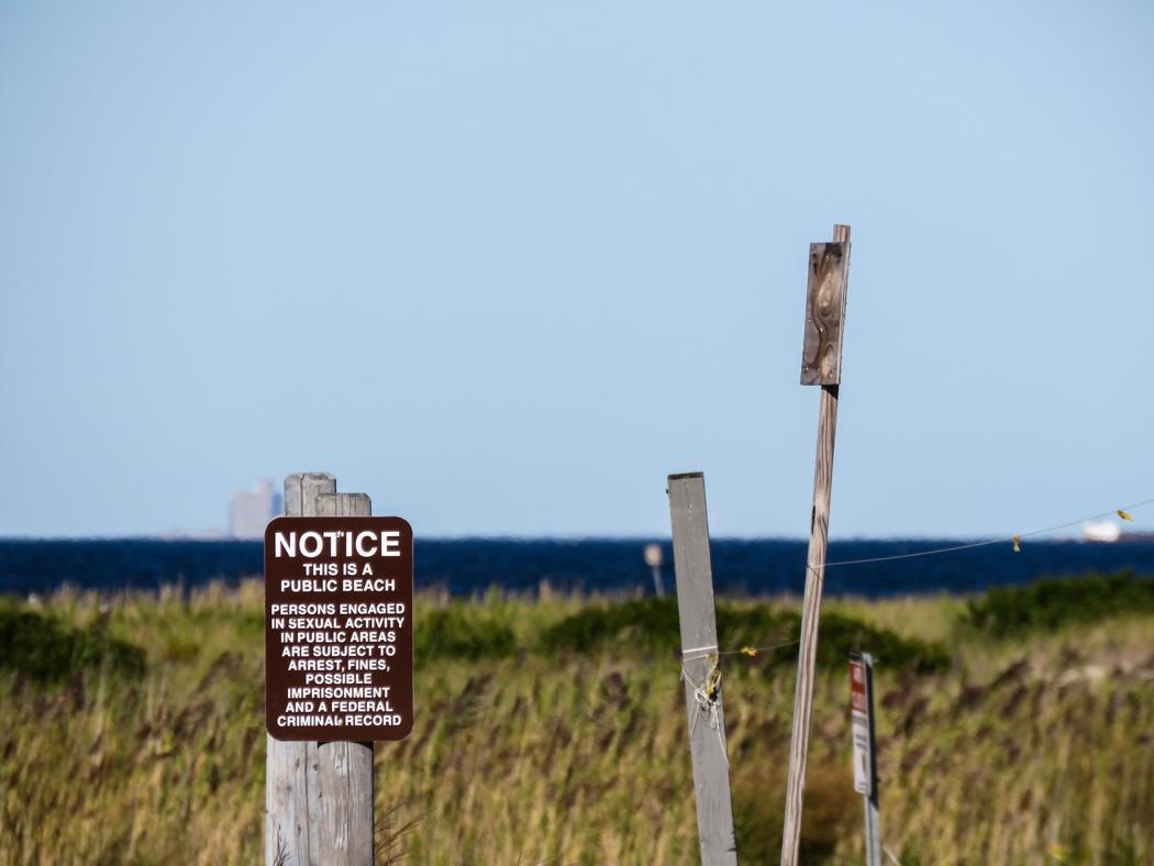 Let it be known: avhållsamhet från sexuella aktiviteter anbefalles på New Jerseys stränder, tack.