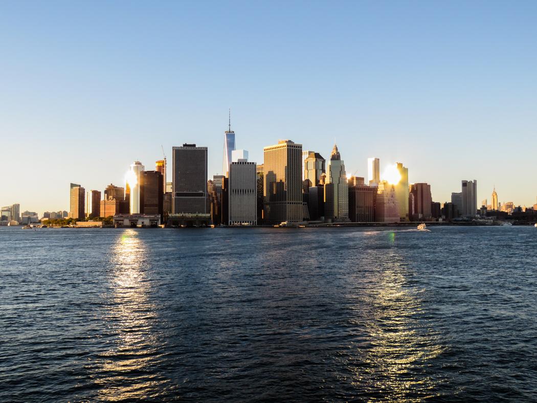 Approaching Manhattan.