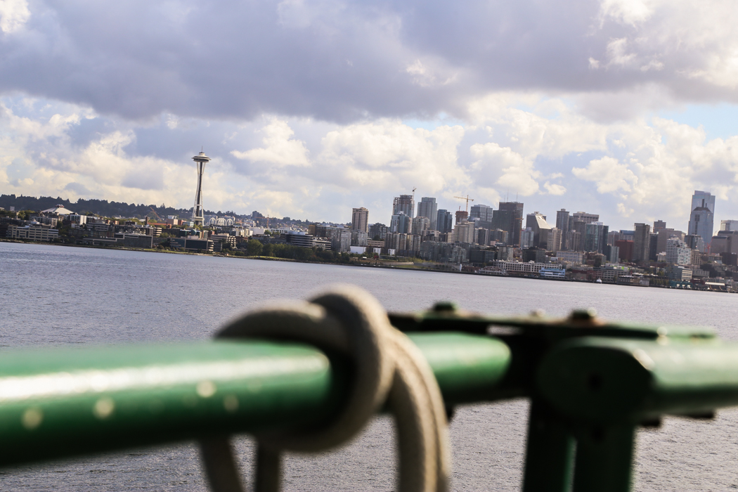 Vyn över Seattle från sjösidan.