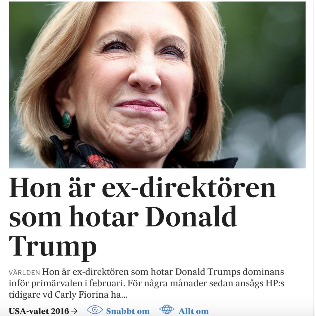 Fiorina-artikeln på svd.se.