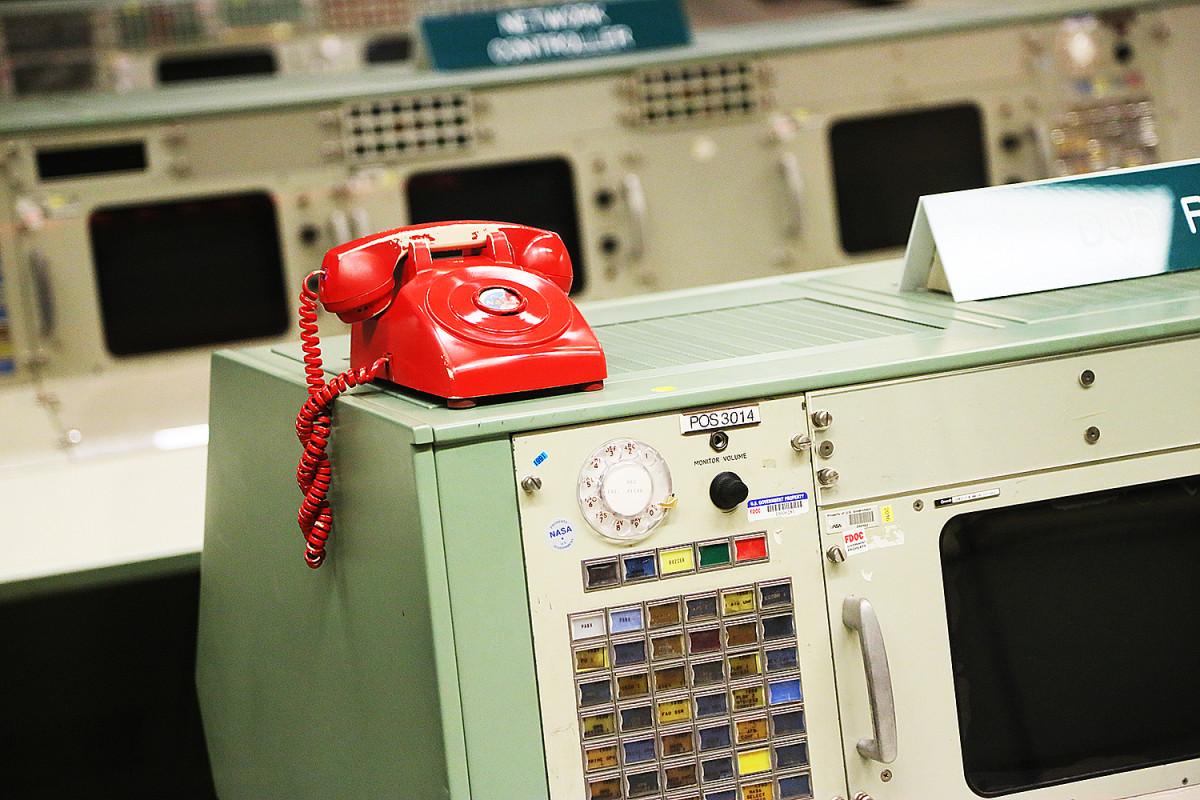 Den röda telefonen gick direkt till försvarshögkvarteret Pentagon i Washington.