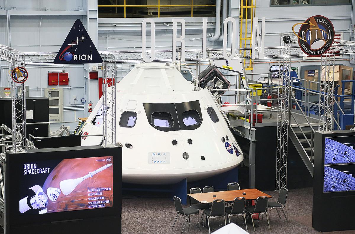 Orion-kapseln, som ska utgöra stommen i en framtida efterföljare till rymdfärjorna.