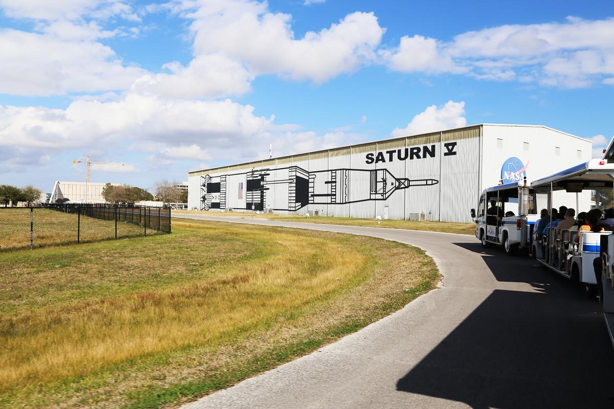 På rundtur vid Johnson Space Center.