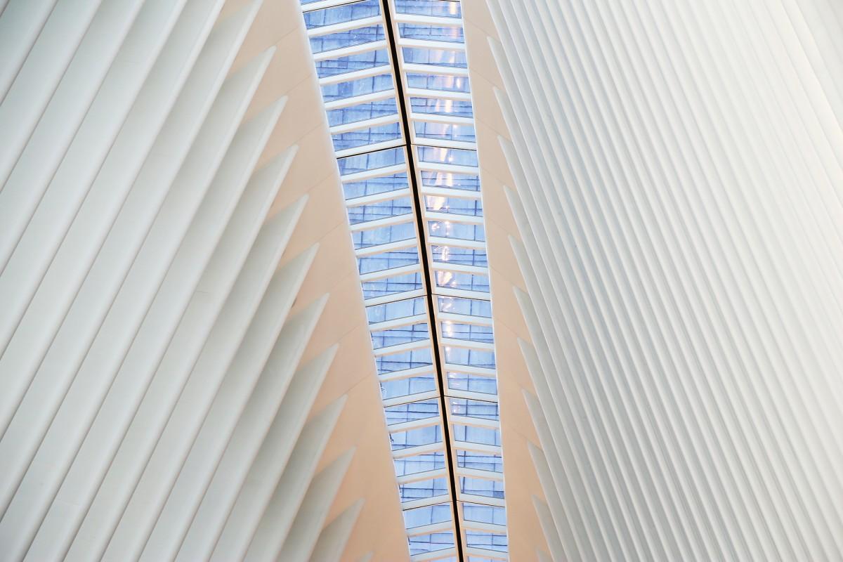 En smal strimma öppningsbara föster finns i taket. Foto: Erik Bergin