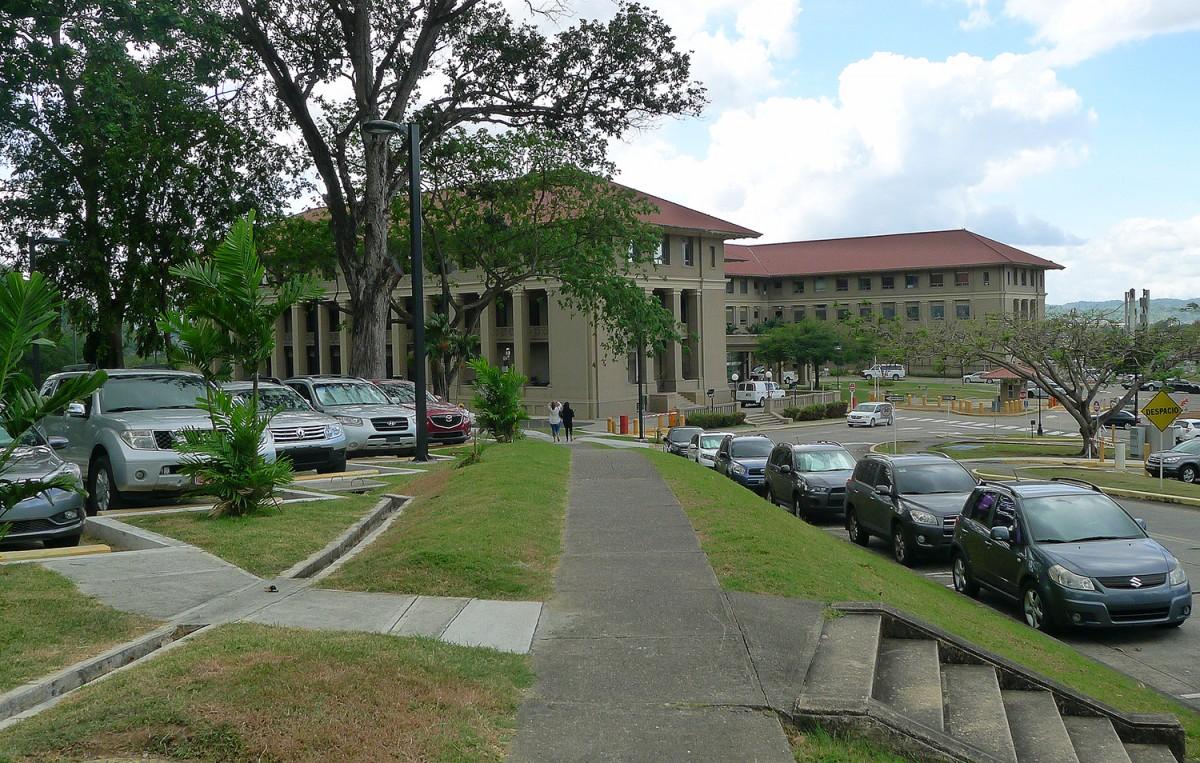 Kanalmyndighetens byggnad i Panama City.