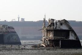 Världens största skeppsskrot i Chittagong, Bangladesh. Foto: Erik Bergin