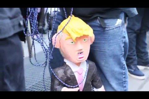 Anti-Trump-demostration i NYC