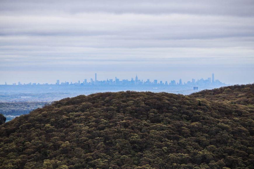 Manhattans skyskrapor i fjärran. Foto: Erik Bergin