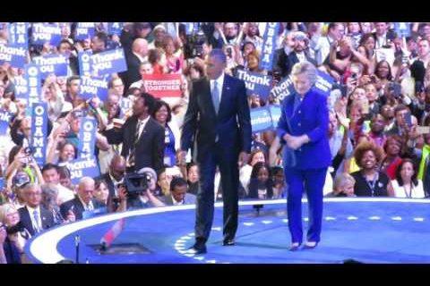 Obama & Clinton på Dem-konventet