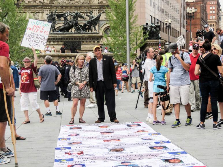 Demonstration mot vapenvåld under Republikanernas konvent i Cleveland. Foto: Erik Bergin