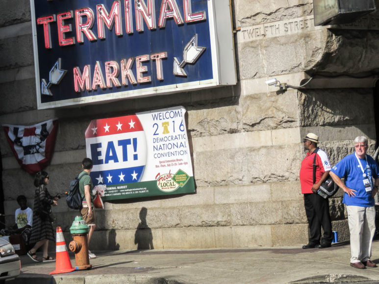 Philadelphia, Pennsylvania, nära stans konferenscenter under Demokraternas konvent. Foto: Erik Bergin