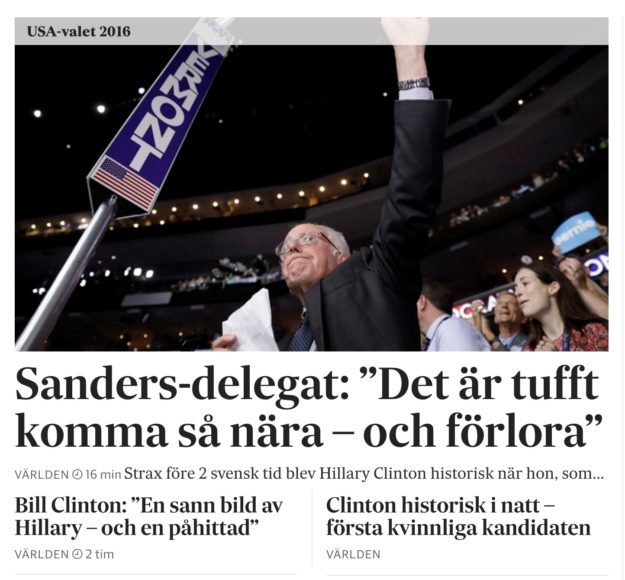 Webb-rapport om nomineringen av Clinton. Foto: Erik Bergin