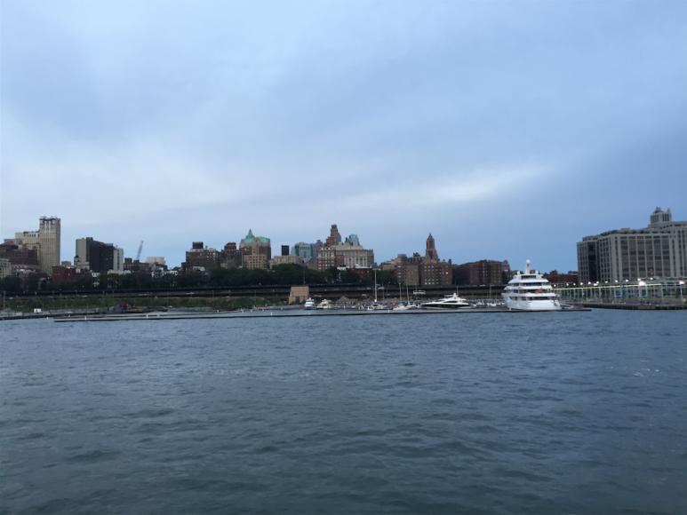 Den nybyggda småbåtshamnen i södra Brooklyn.