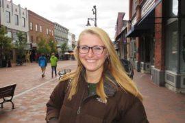 Allison Ailor, Sanders-supporter i Burlington, Vermont. Foto: Erik Bergin