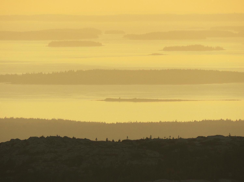 Maines kust i solnedgång. Foto: Erik Bergin